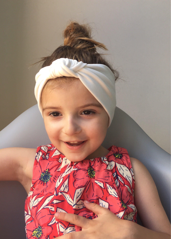 Ivory turban head wrap   baby boho knot headband   toddler head wrap    headband   girls turban head band   girls retro headband c09ebb9d668