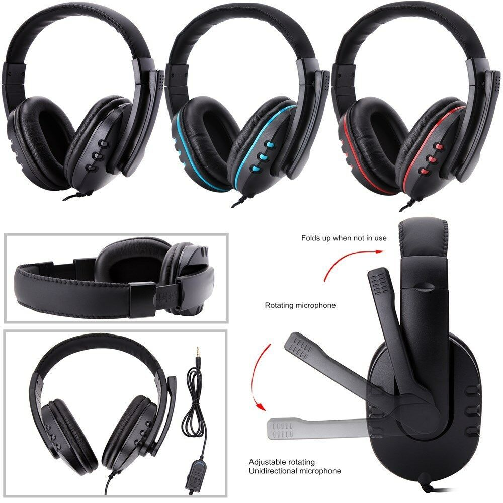 Stereo 3 5mm Wired Gaming Headset Headphone For Ps4 Xbox One Nintendo Switch Pc Gaming Headphones Ideas Of Gam Headphones For Ps4 Headset Gaming Headphones
