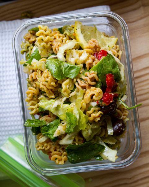 Lemon veggie pasta salad