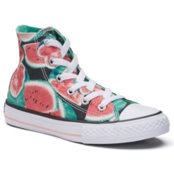 3aac178a7b32 Girls +Converse+Chuck+Taylor+All+Star+Floral+Petals+High+Top+Sneakers