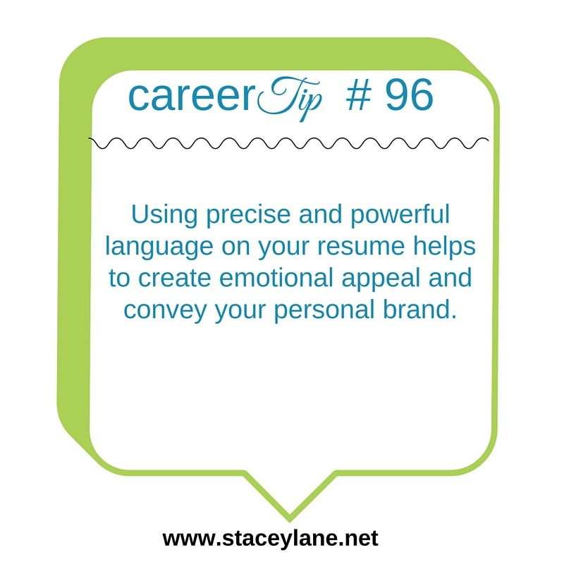 Career Tip 96 Using precise and powerful language on your resume - resume coach