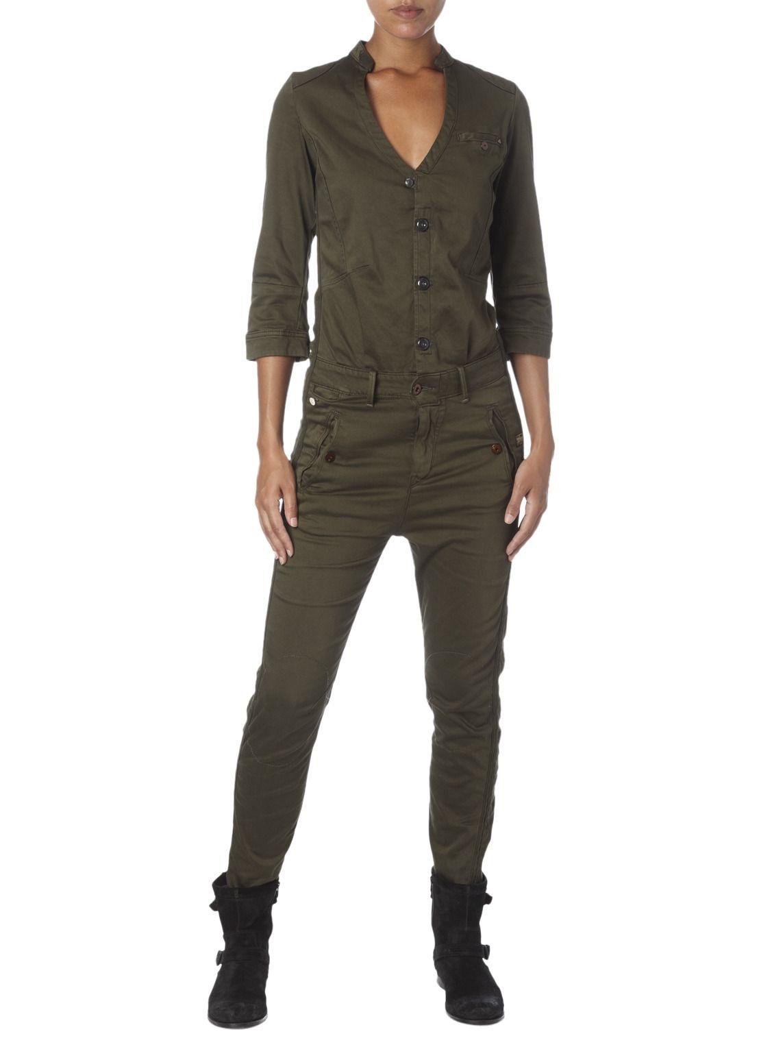 g star raw jumpsuit in katoenblend met print jumpsuits. Black Bedroom Furniture Sets. Home Design Ideas