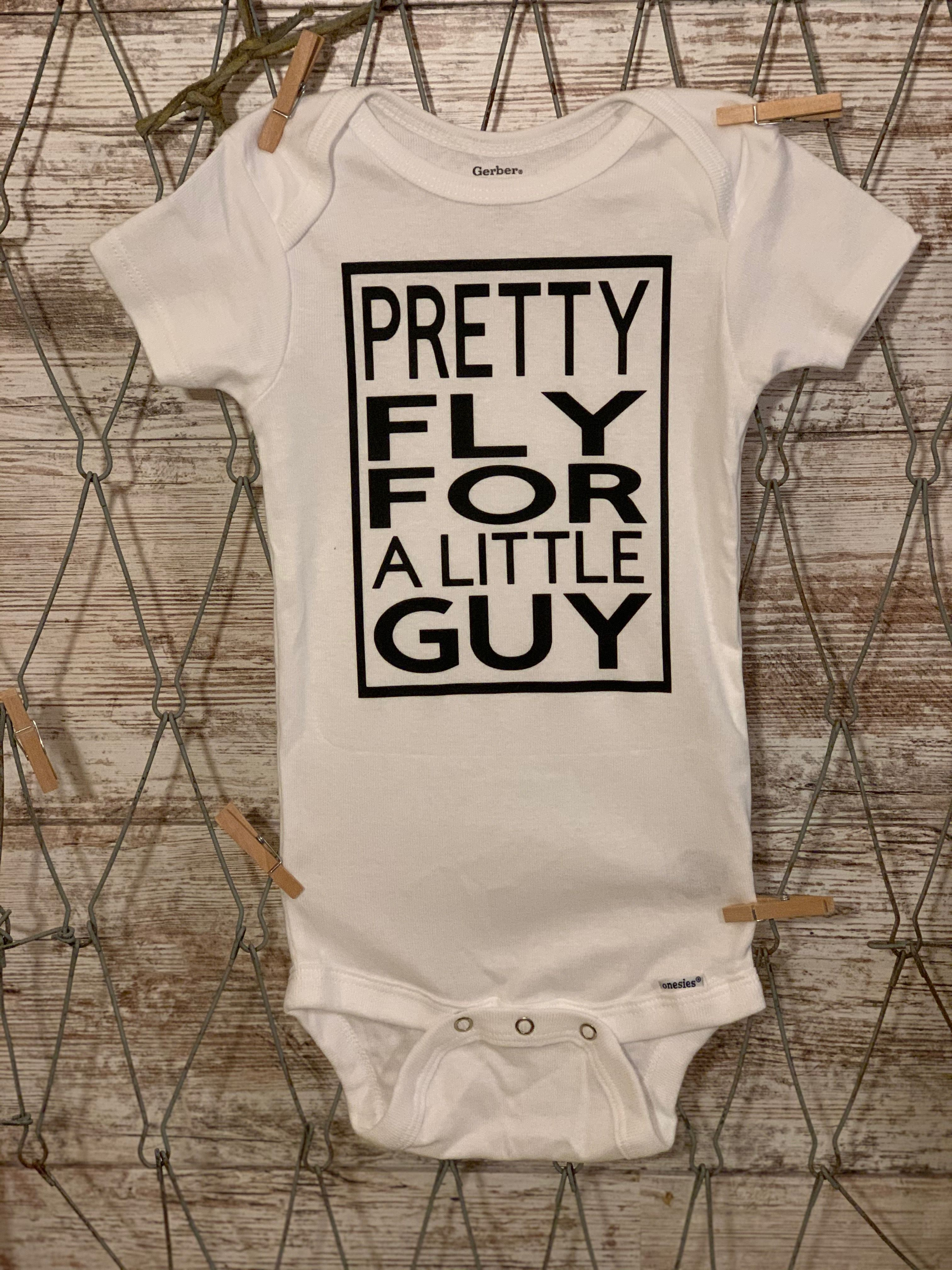 Baby Boy Outfit Pretty Fly For A Little Guy Onesie Cute