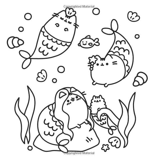 Amazon Com Pusheen Coloring Book 9781501164767 Claire Belton Books Pusheen Coloring Pages Unicorn Coloring Pages Mermaid Coloring Pages