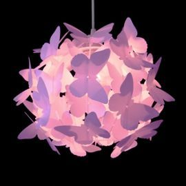 Butterfly Ball Ceiling Light Pendant Shade, Gloss Pink   Glosses ...