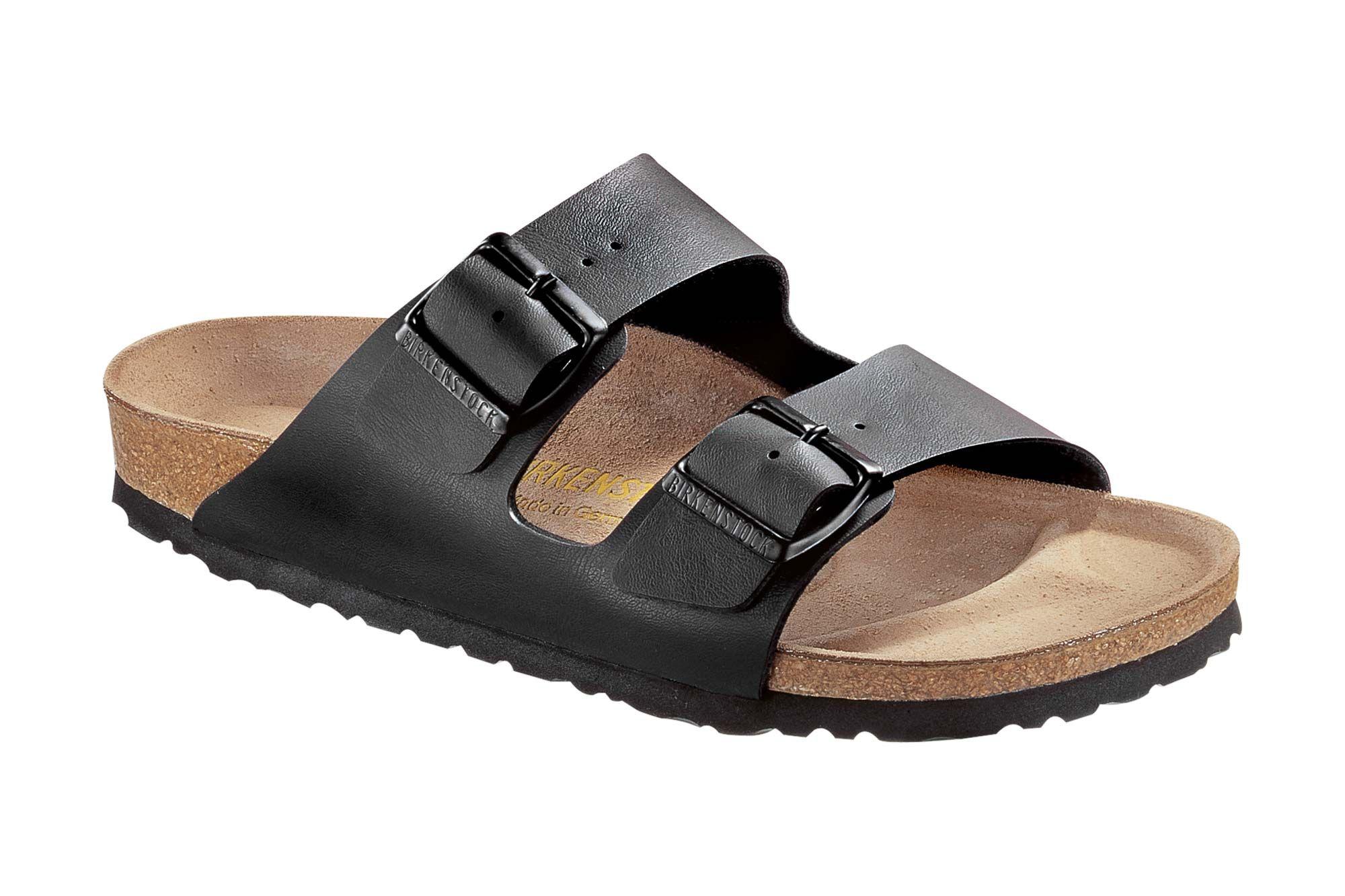 Sandales Arizona, Birkenstock Kaki Et Gris Birko-flor®