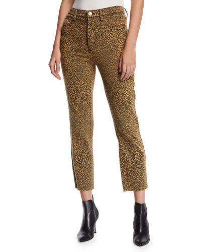 ccb7595151e3 Current/Elliott The Stiletto High-Rise Leopard-Print Jeans | FAV ...
