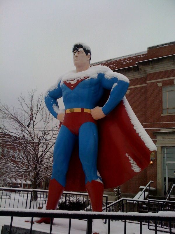 Superman outside of the Super Museum, Illinois