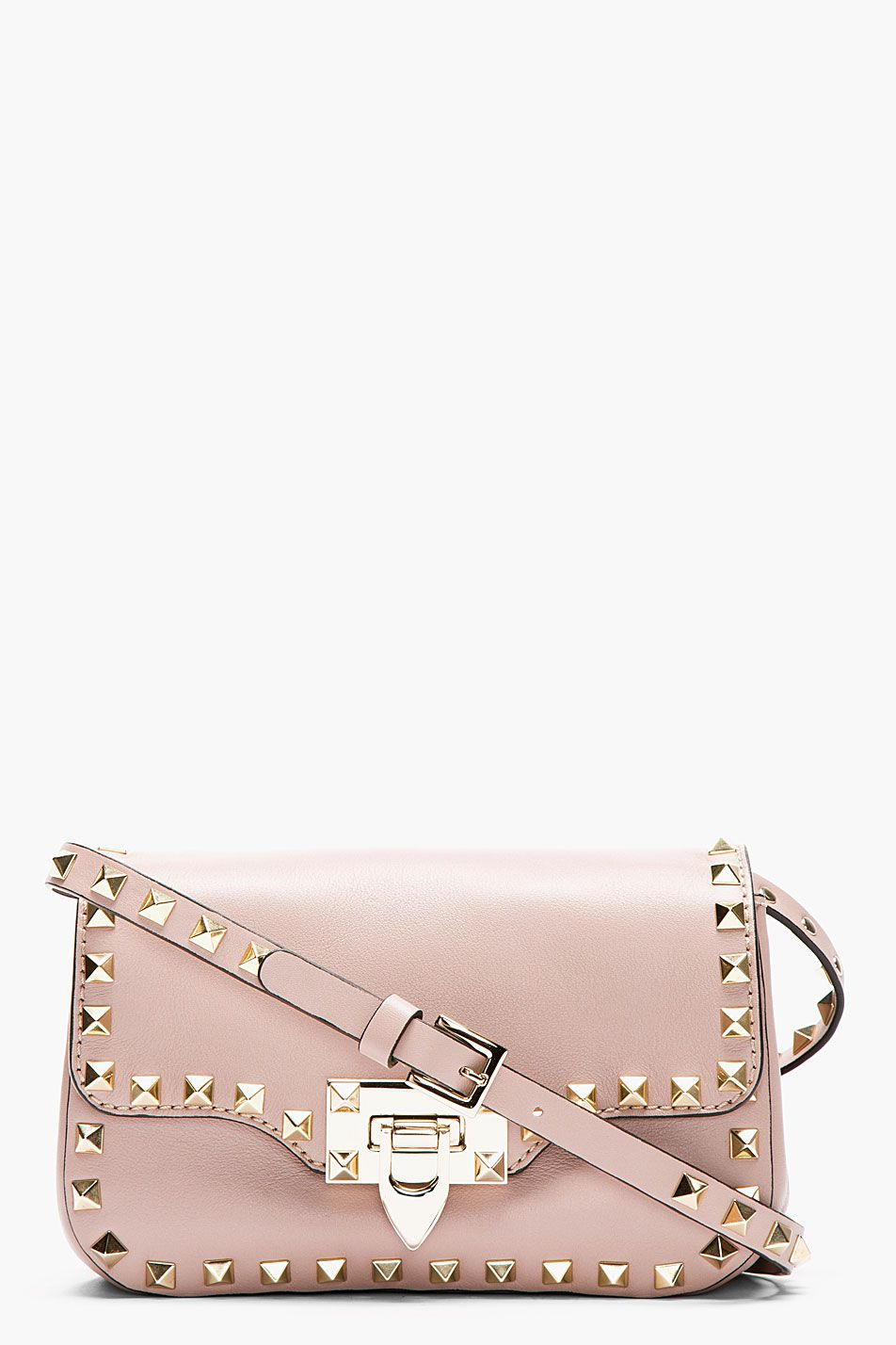 e650062d9ca Valentino Nude Leather Rockstud Shoulder Bag | Bags in 2019 | Bags ...