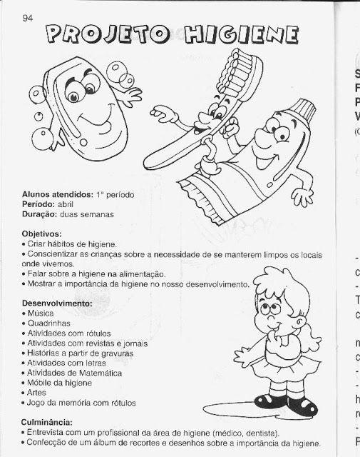 Projeto Higiene Para Educacao Infantil Com Atividades Sobre