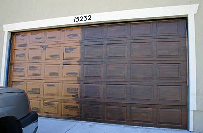 DIY: Faux Wood Garage Door