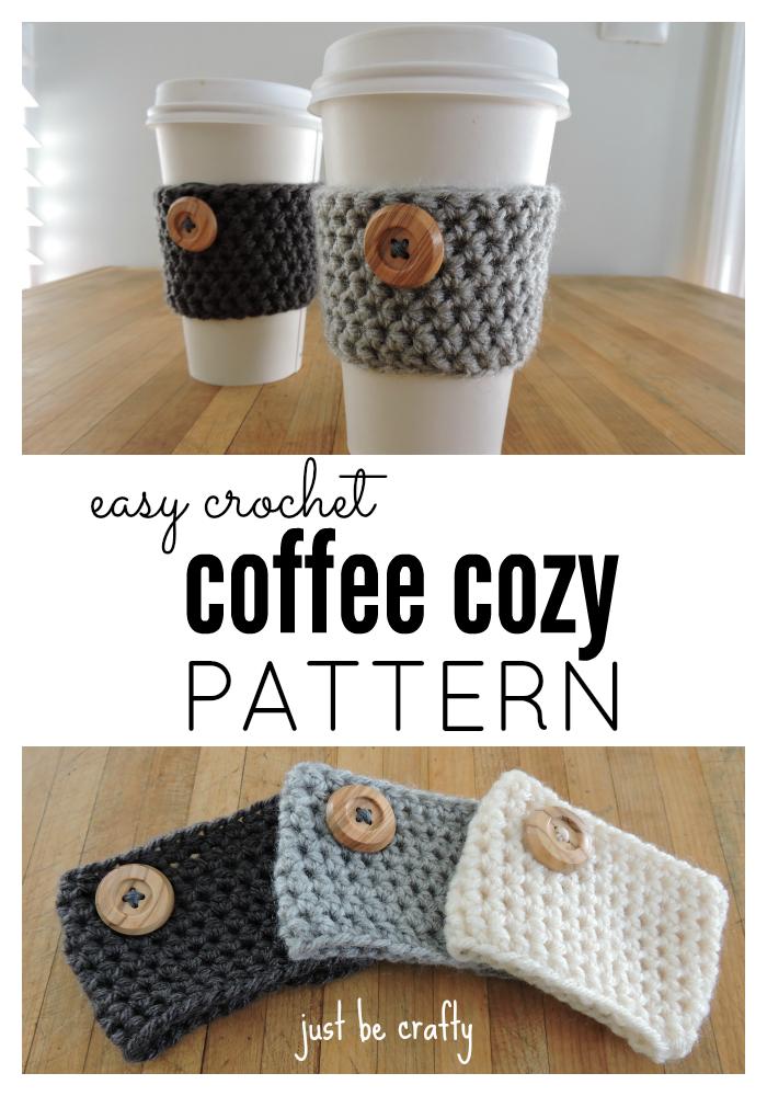 Crochet Coffee Cozy Pattern Just Be Crafty Crochet Coffee Cozy