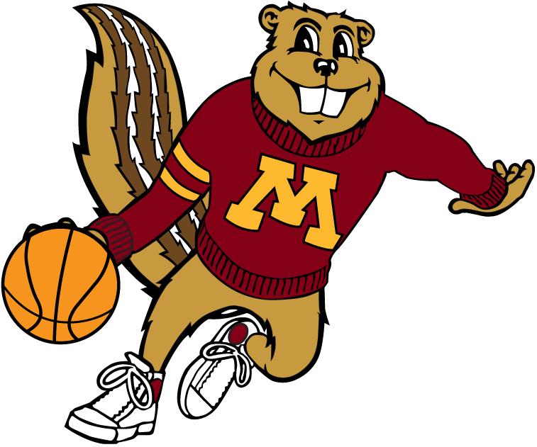 Minnesota Golden Gophers Mascot Logo Gopher Basketball Viking Logo Mascot