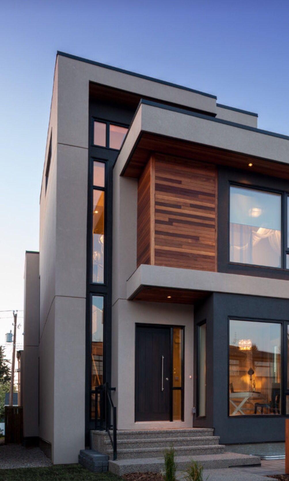 ✓47 Popular Contemporary Exterior House Design Ideas 10 | Stair Room Exterior Design | 3 Floor Building | Box Type | Brick | Open Plan | Amazing