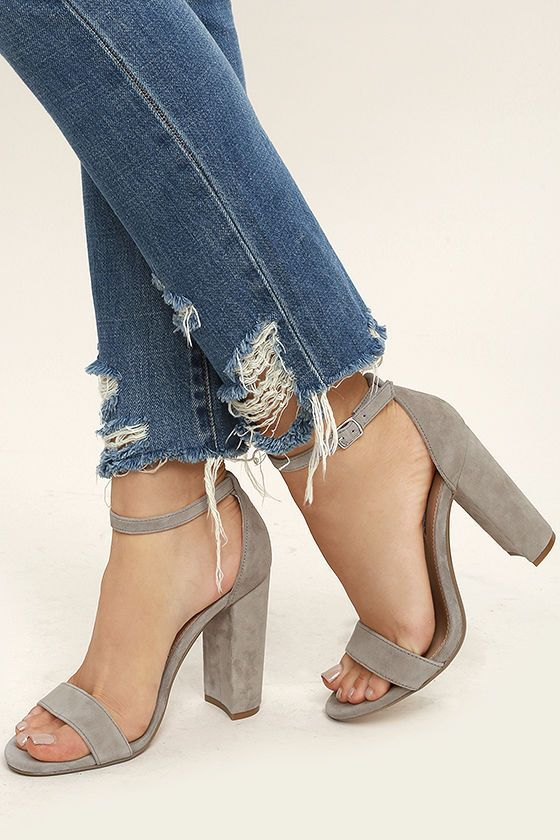 315577943b6 The Steve Madden Carrson Taupe Suede Leather Ankle Strap Heels are on fire  with a simple design that is a total knockout! Soft genuine suede shapes a  ...