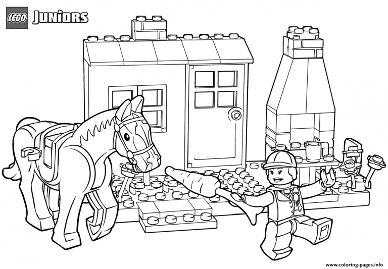 Lego Horse Coloring Pages