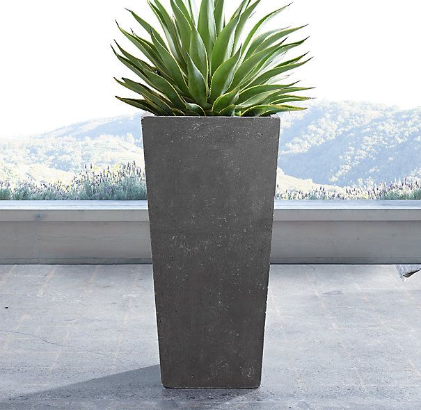 Weathered Cast Stone Tapered Planters Planters Diy Planters Outdoor Tall Outdoor Planters
