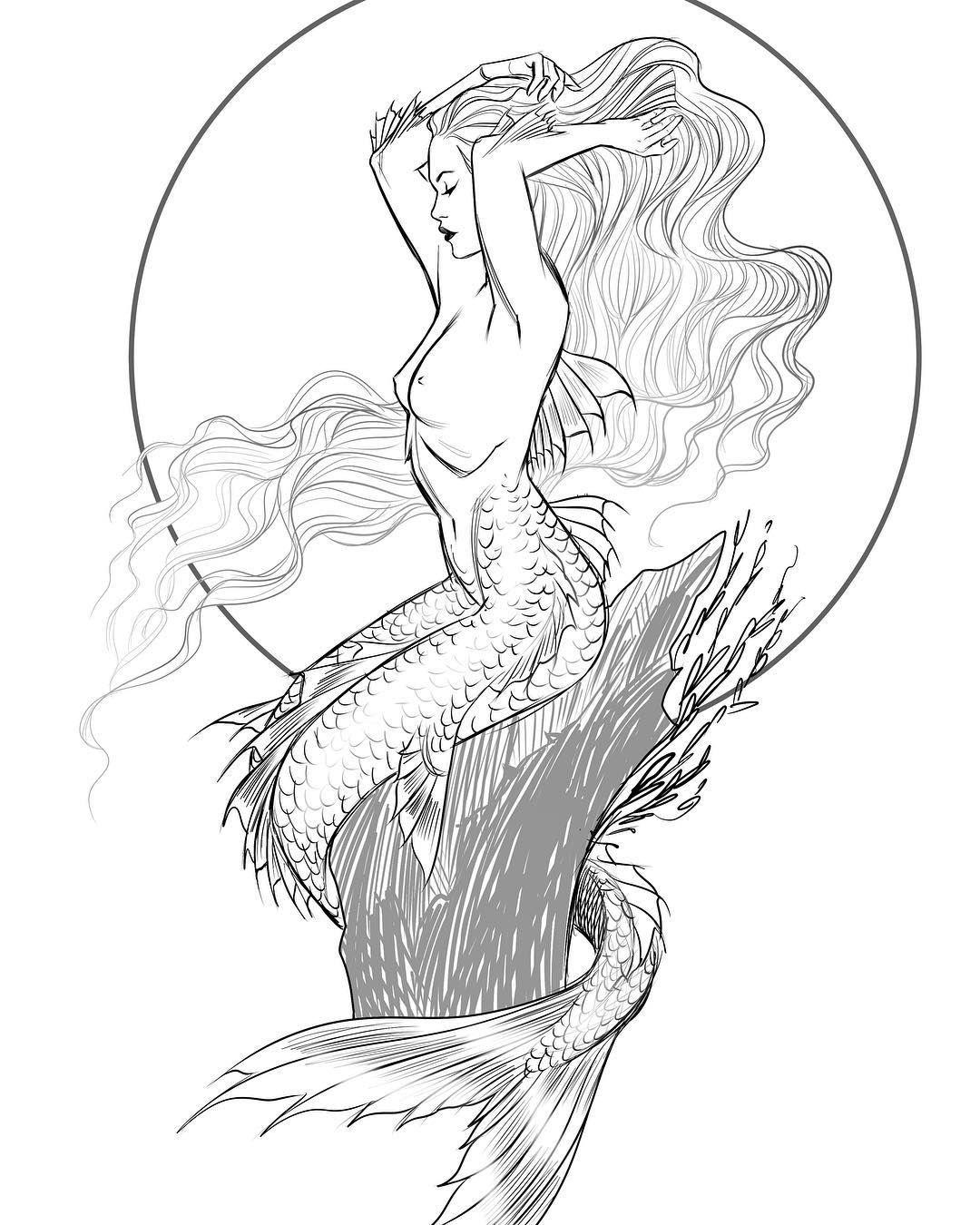 Mermay Sketch Mermay2018 Mermaid Sea Art Draw Quick