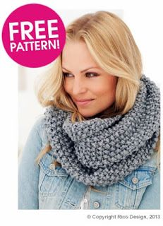 free knitting pattern for moss stitch snood | Knitting & Crochet