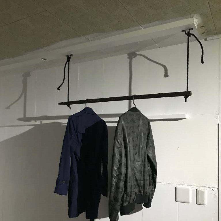 2000円でおしゃれな天井吊り下げハンガーラックを自作 簡単diy Vol