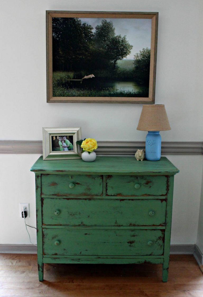 Chalk painted dresser love painted furniture colors
