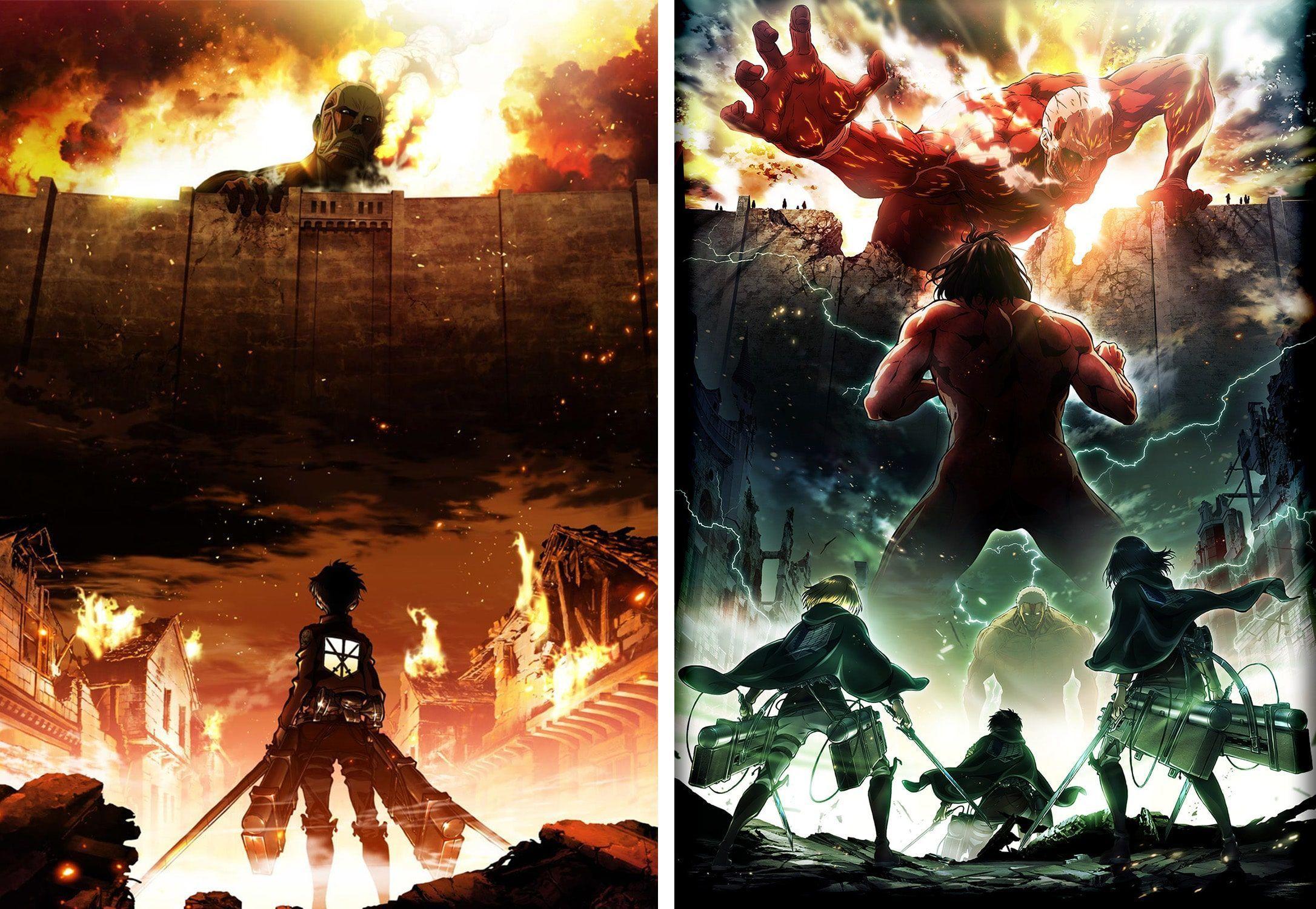 attack on titan season 1 and 2 fight pinterest attack on titan