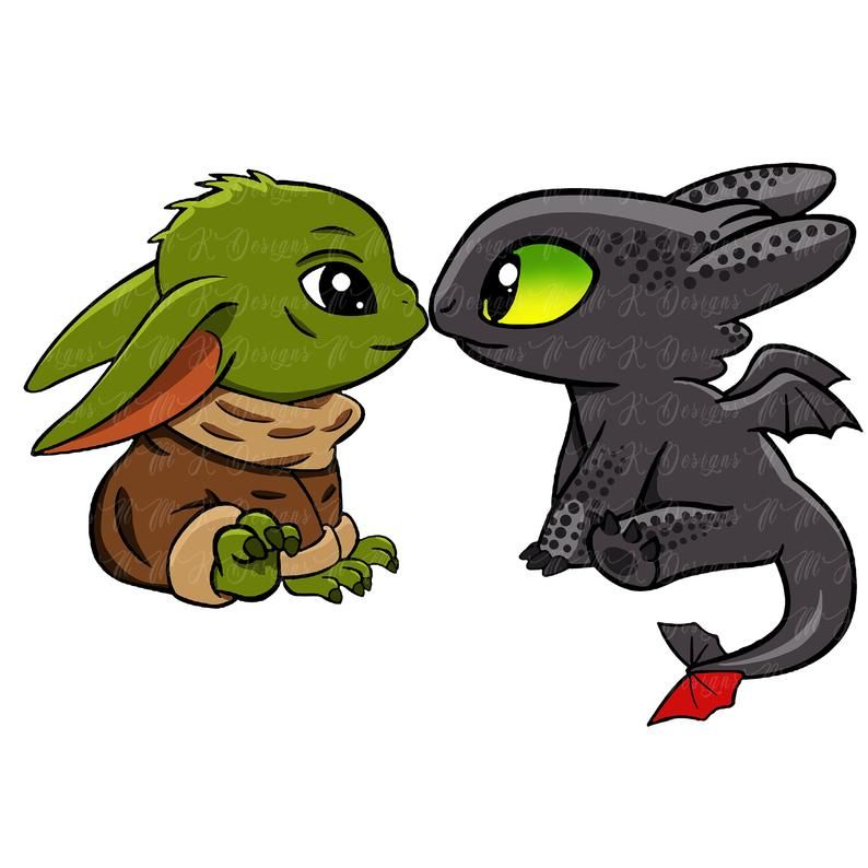 Yoda Baby Toothless Sublimation Designs Png Graphic Design T Etsy Baby Toothless Star Wars Drawings Cute Cartoon Wallpapers