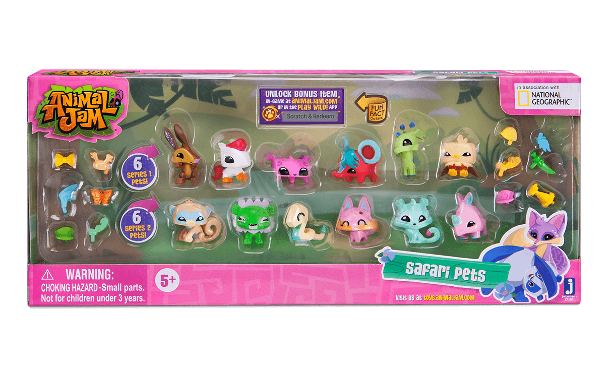 Animal Jam Adopt A Pet Safari Pets Collectible Toy Walmart Com