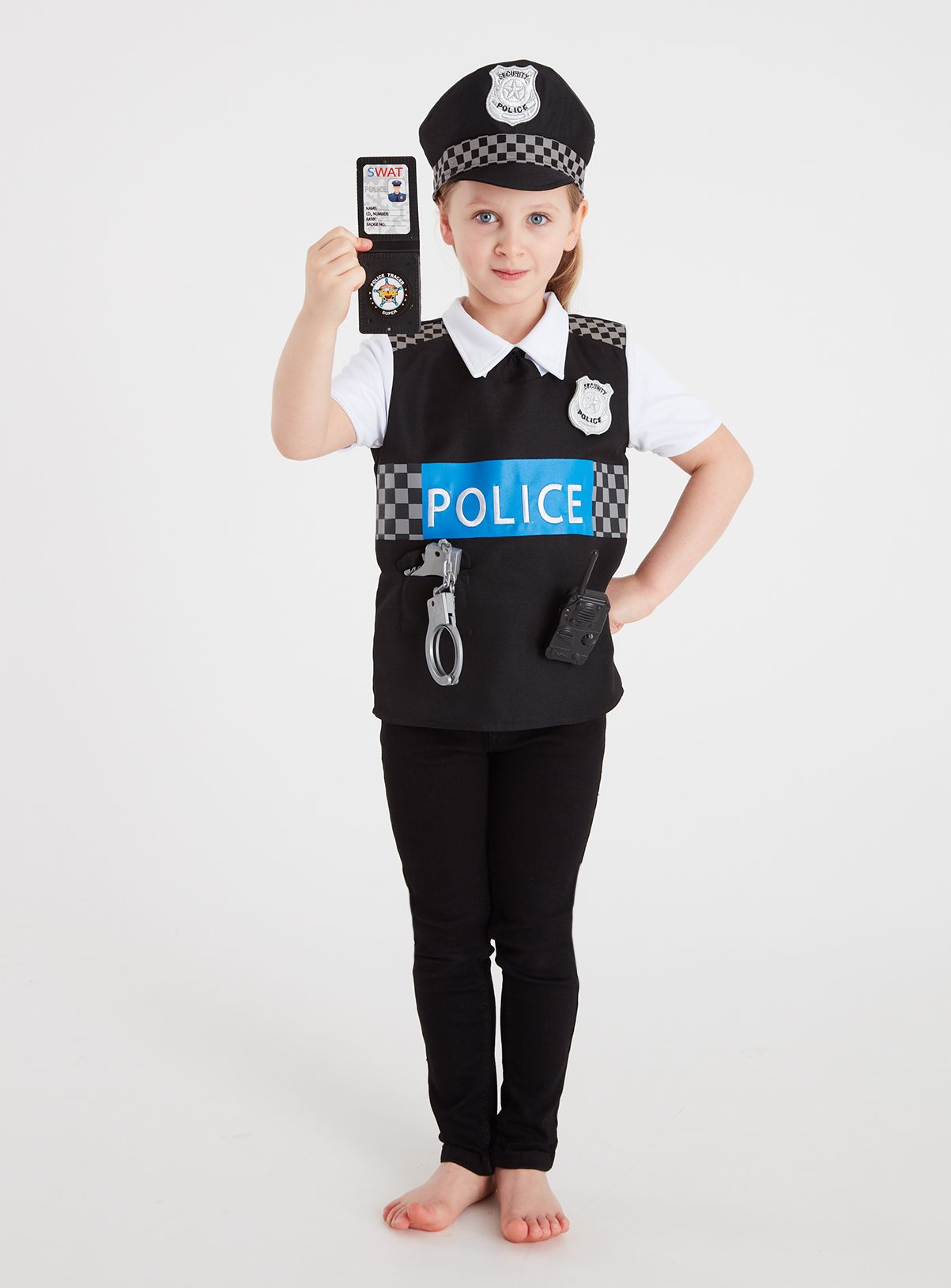 Yellow Police Officer Reversible Costume Set in 2020