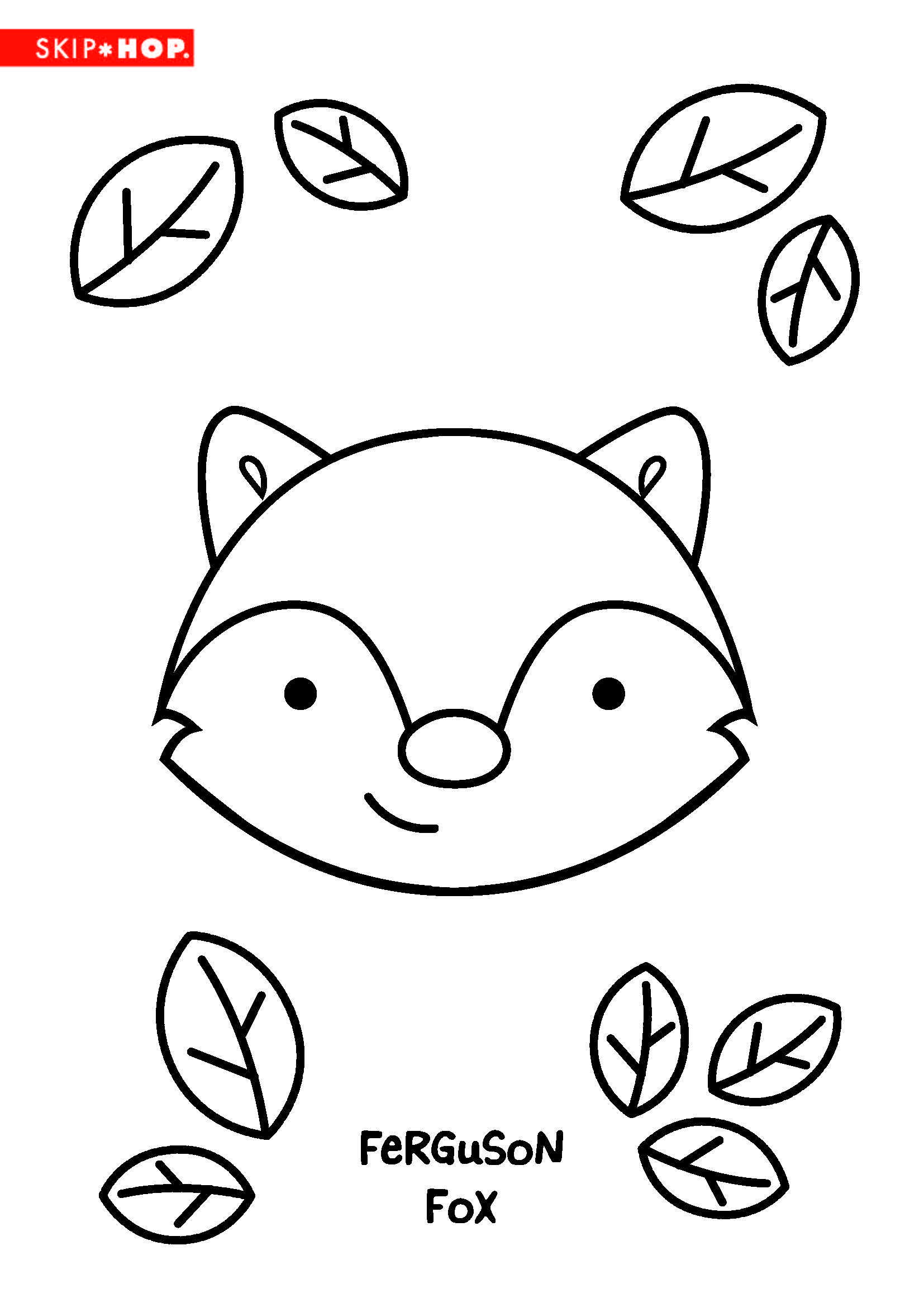 Ferguson Fox Coloring Sheet Kids Coloring Book Fun Crafts For Kids Crafts For Boys
