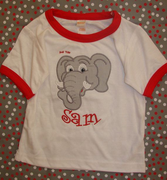 Boys Alabama Personalized shirt by Lolligrams on Etsy, $21.00