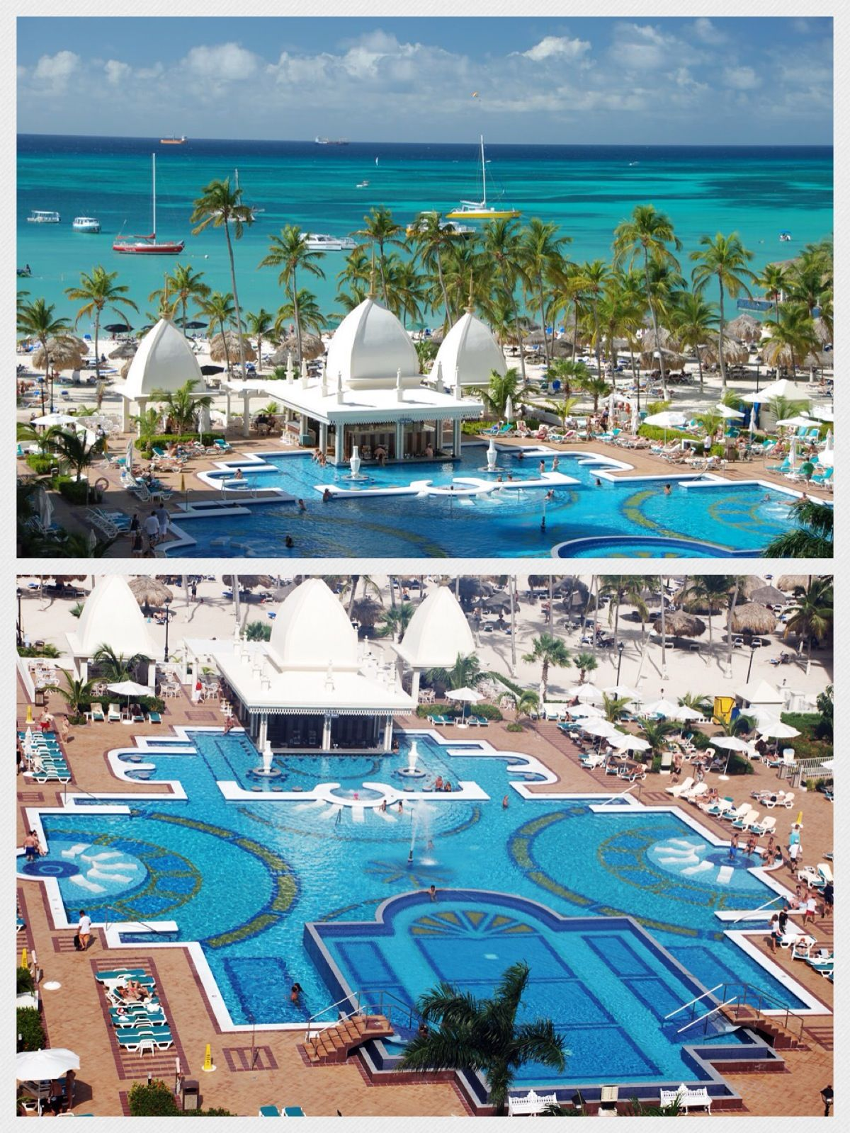 Aruba  Riu Palace allinclusive resort located on Palm