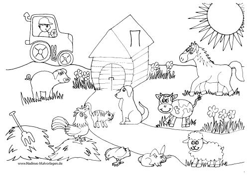 Ausmalbilder Bauernhof Farm Coloring Pages Farm Animal Coloring Pages Coloring Pages