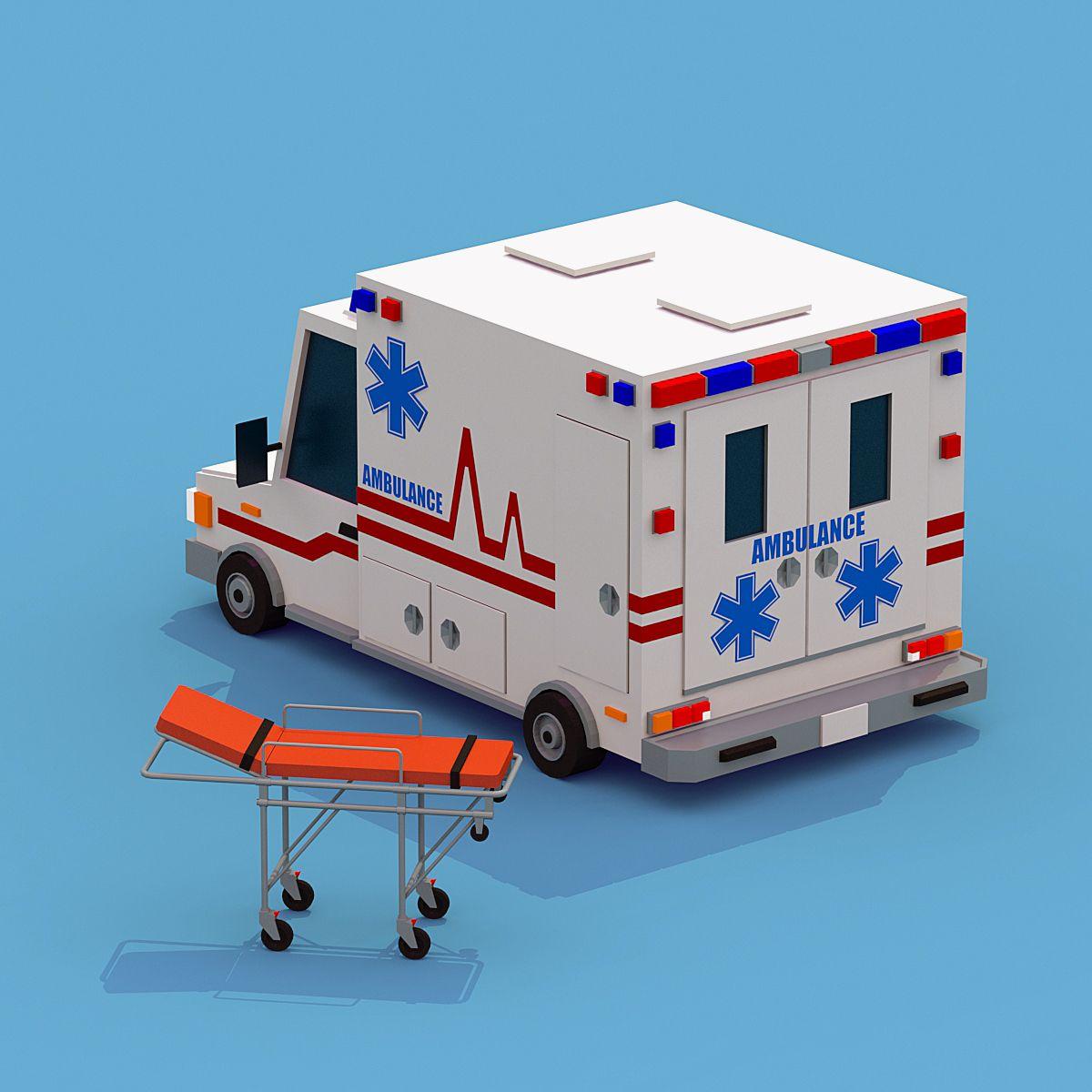 Ambulance with Stretcher 구급차