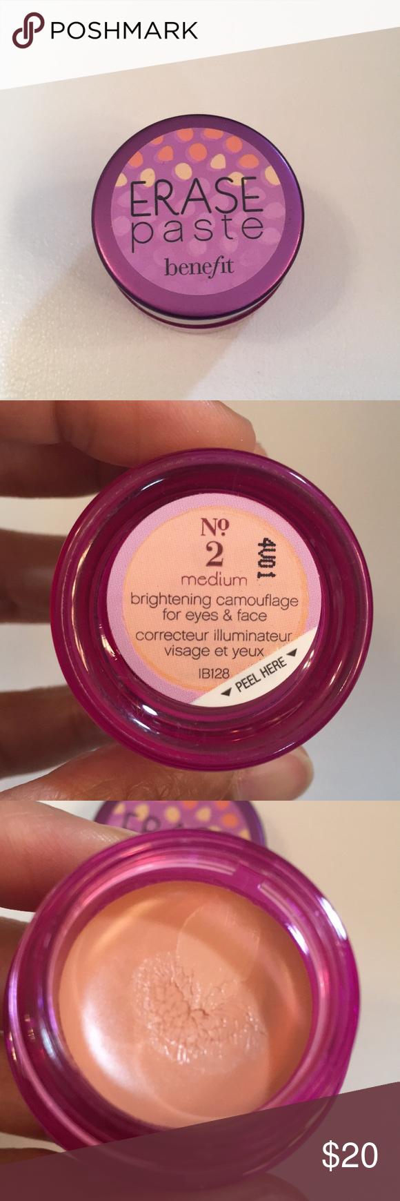 5f60b71ae8b Benefit Erase Paste - No. 2 Medium | Pinterest | Erase paste, Benefit makeup  and Benefit
