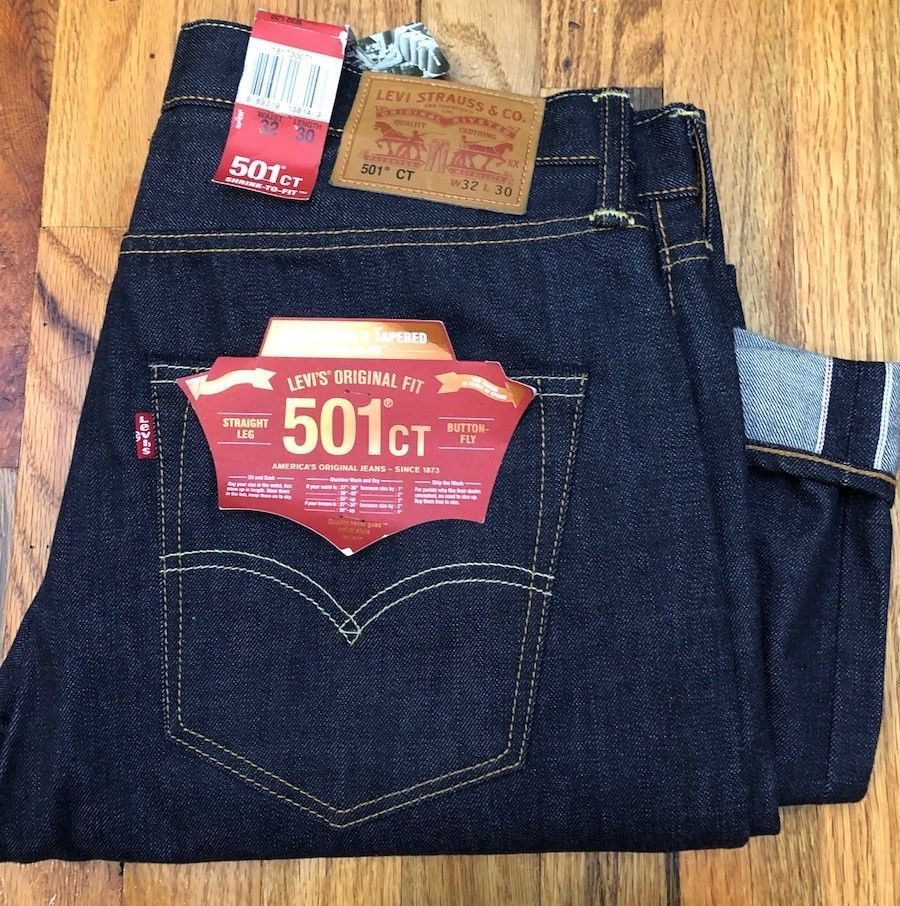 608adc75 Levi's 501® CT men jeans selvedge white oak USA denim Rigid Raw Shrink to  Fit