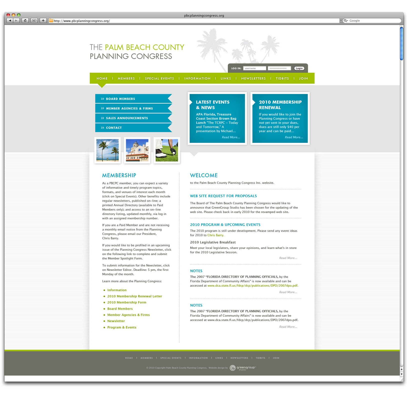 Web Design And Development For Client Palm Beach County Planning