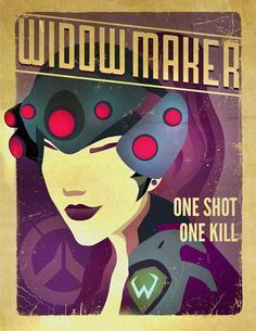 """Fan Art: Tracer, Reaper, and Widowmaker by ChowsrBao chowsrbao: """" Some posters I wanted to do after watching the trailer for Overwatch. The characters are full with personality and it's exciting that..."""