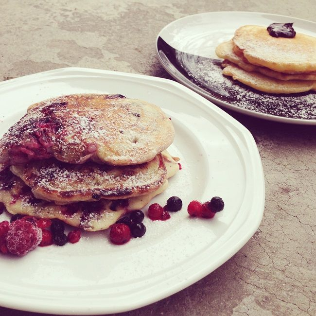 rezept pancakes vegan glutenfrei beeren schokolade