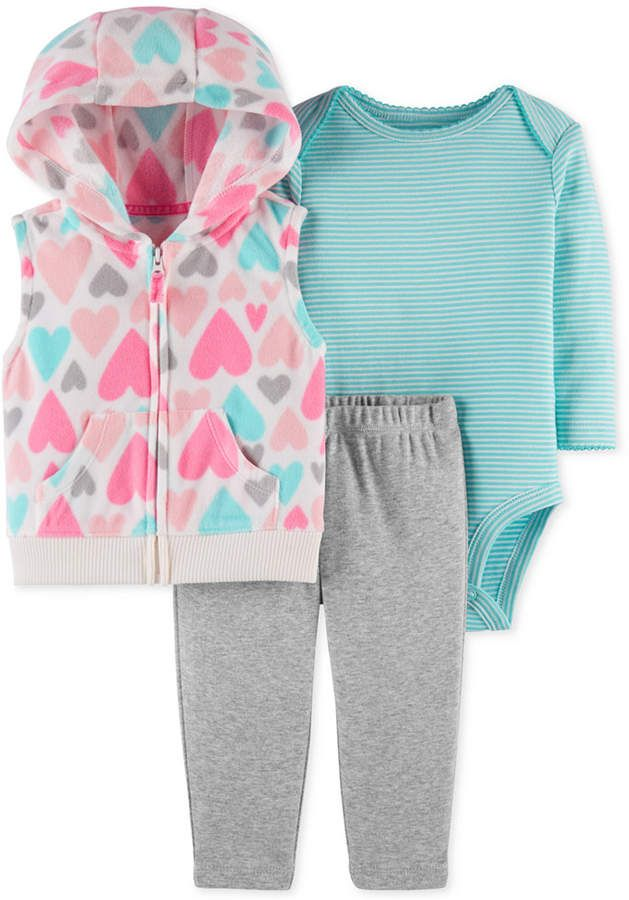Carter s Baby Girls 3-Pc. Hooded Vest 22902f981