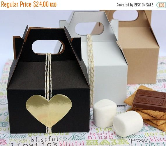 Items Similar To Sample Pack Of Mini Gable Bo Party Favor Wedding Smore S One Box On Etsy