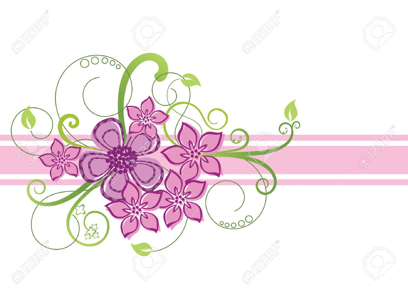 the gallery for gt pink flower border design