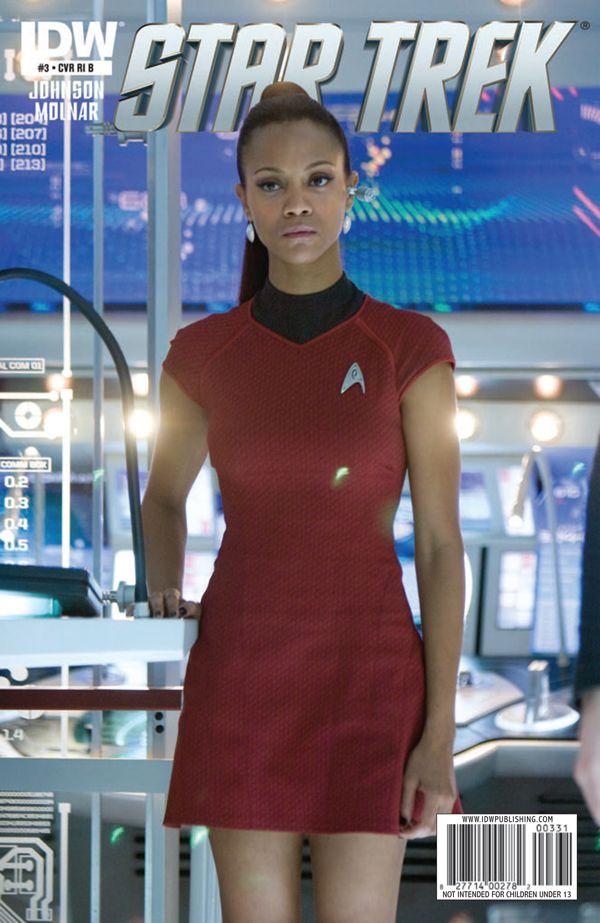 Star Trek Mag Cover Dress By Doris Chan Zoe Saldana As Uhura