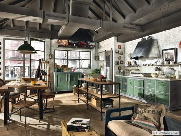Idee Deco Cuisine Style Industriel Loft Interior Design Loft