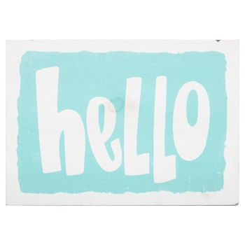 Hello Wood Wall Decor Lyds