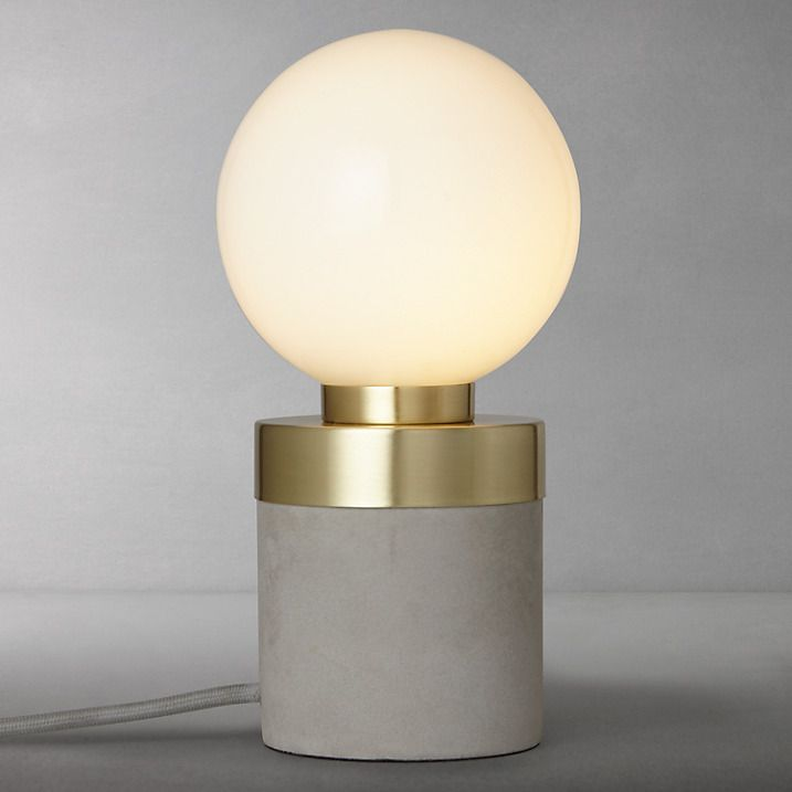 design project by john lewis no 046 lamp opal glass concrete