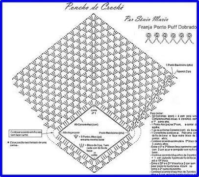 Resultado de imagen para patrones de ponchos para bebe a crochet ...