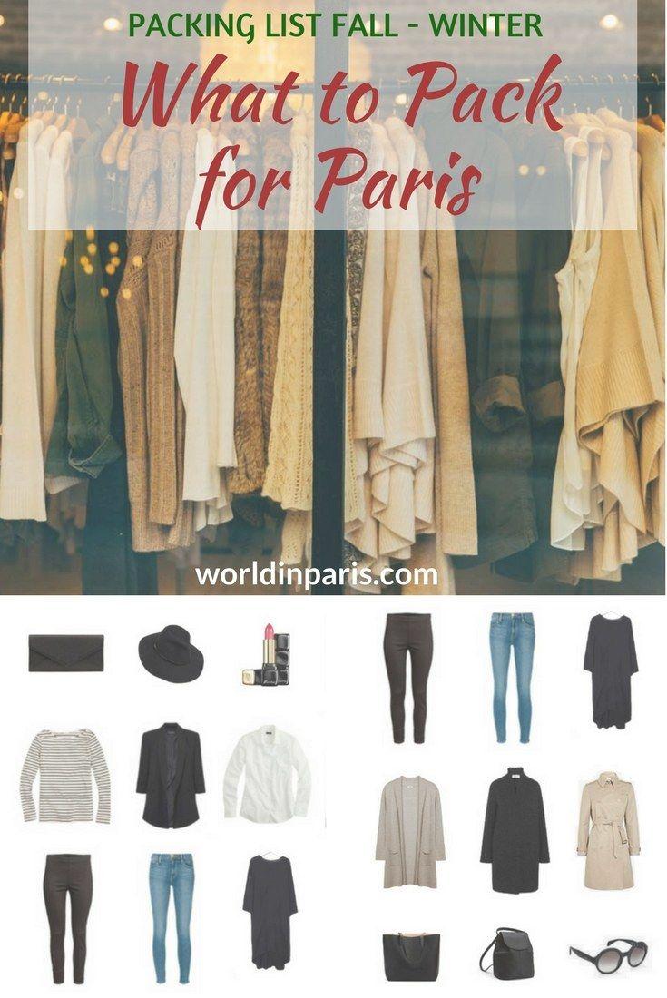 5b630956381c Paris Packing List