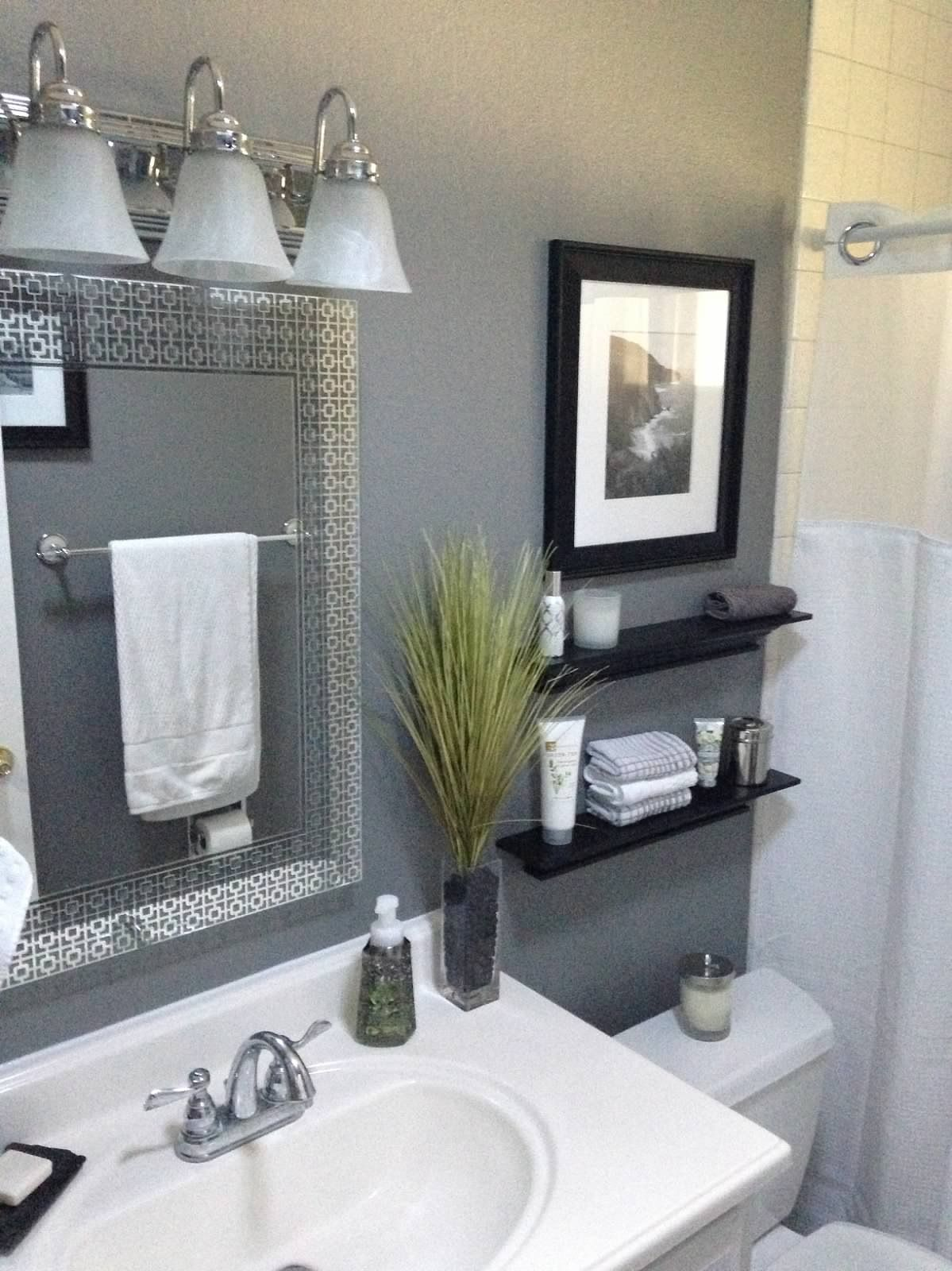 Beau This Colorful, Small Gray Bathroom Makeover Can Be Done In Just 1 Weekend  With Grant