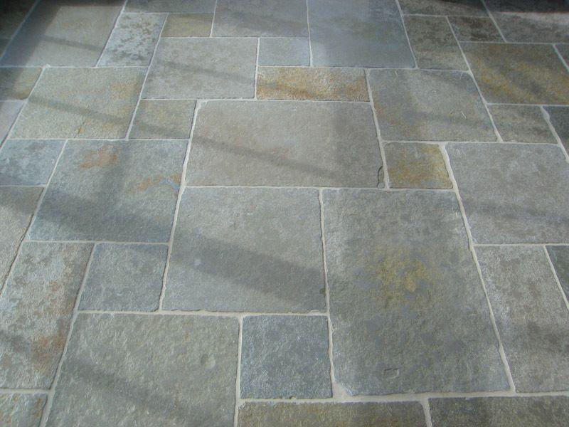 Kota Green Tumbled Set Pattern Patio Flooring Stone Flooring